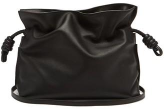Loewe Flamenco Drawstring Leather Cross-body Bag - Black