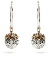 Alexander McQueen Charm-droplet hoop earrings