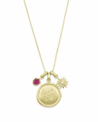 Kendra Scott January Aquarius Charm Necklace Set