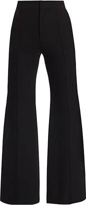 Chloé High Waist Flared Wool Pants