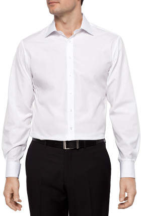 Thomas Pink Solid Poplin Slim Fit Shirt