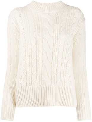 Agnona cable knit jumper