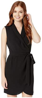 1 STATE 1.STATE Sleeveless Wrap Front Tie Waist Dress