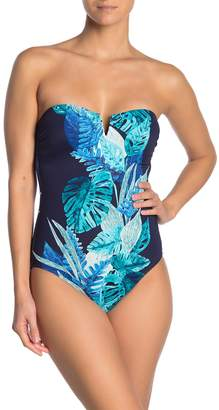 Tommy Bahama Floral Isles Bandeau One-Piece Swimsuit
