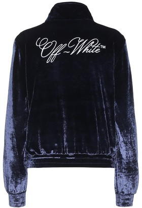 Off-White Embroidered velour track jacket