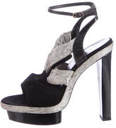 Balenciaga Ankle-Strap Platform Sandals
