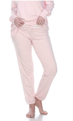 PJ Harlow Pjharlow BLYTHE FRENCH TERRY SWEAT PANT WITH SATIN WAISTBAND AND TRIM