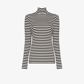 Burberry Womens Black Striped Turtleneck T-shirt