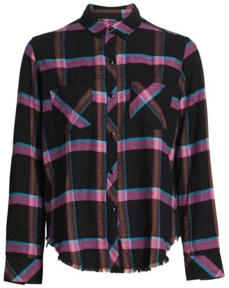 Rails Leo Plaid Button-Front Blouse