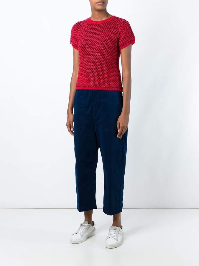 Julien David knitted shortsleeved top