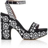 Tabitha Simmons Women's Calla Festival Platform Sandals-BLACK