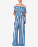 Catherine Malandrino Catherine Striped Off-The-Shoulder Jumpsuit