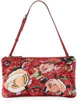 The Row Happy Hour 10 Floral Pouch Shoulder Bag, Tangerine/Multi