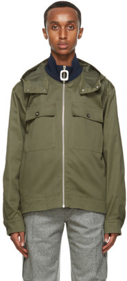 J.W.Anderson Green Pull Zip Up Jacket