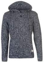 Soul Cal SoulCal Mens Deluxe Pattern Knitted Hoodie Jumper Hoody Hooded Top Sweater