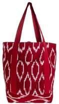 Hand Made Central American Cotton Tote Handbag, 'Ruby Maya'