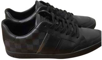 Louis Vuitton Black Cloth Trainers