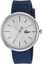 Lacoste Men's 'Orbital' Quartz Stainless Steel and Silicone Casual Watch, Color:Blue (Model: 2010908)