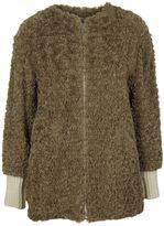 Etoile Isabel Marant Beige Abril Faux Fur Jacket