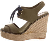Tory Burch Lace-Up Platform Wedge Sandals