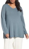 Eileen Fisher Plus Size Women's Sleek Tencel Lyocell Texture Knit Tunic