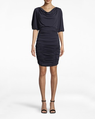 Nicole Miller Stretchy Matte Jersey Ruched Dress