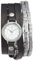 La Mer 'Highline' Leather & Stone Wrap Watch, 19mm
