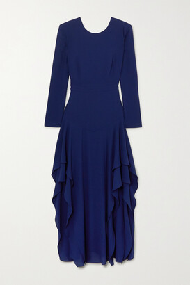 STELLA MCCARTNEY - Ruffled Crepe Maxi Dress - Blue