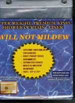 Carnation Mildew Resistant EXTRA Thick VINYL Shower Curtain/Liner - SUPER CLEAR