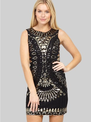 M&Co Izabel aztec sequin shift dress