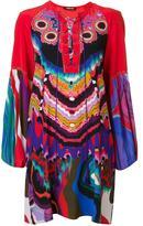 Roberto Cavalli floral jacquard shift dress