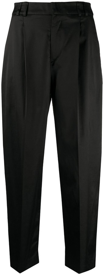 Pt01 Cropped Straight-Leg Trousers