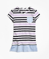 Brooks Brothers Cotton Stripe Cap Sleeve Tunic
