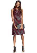 Donna Ricco Striped Sleeveless A-Line Short Dress 8263176M