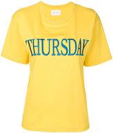Alberta Ferretti Thursday embroidered T-shirt - women - Cotton - L
