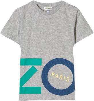 Kenzo Grey Cotton Blend T-shirt