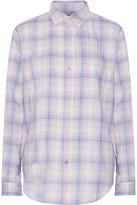 Current/Elliott The Prep School Shirt Plaid Cotton-Blend Top
