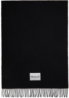 Moncler Black Large Wool Scarf