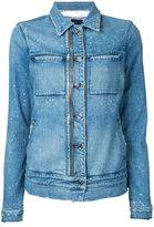 RtA zip detail denim jacket - women - Cotton/Polyurethane - S