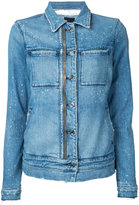 RtA zip detail denim jacket - women - Cotton/Polyurethane - XS