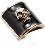 Alexander McQueen Metallic Skull Ring