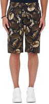 Vince Men's Tropical-Leaf-Print Cotton Shorts-NAVY