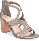 Callisto Shindig Strappy Block-Heel Sandals Women's Shoes