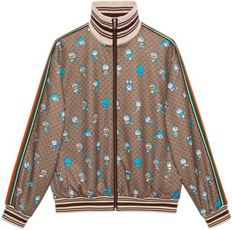 Gucci Doraemon x GG zip-up jacket