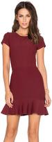 Donna Mizani Cap Sleeve Ruffle Mini Dress