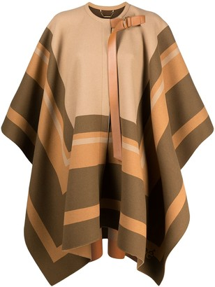 Chloé Striped Cape Coat