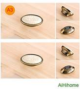 10pcs Kitchen Cabinet Drawer Ceramic Knob Pulls with Bronze/Vintage/Antique for Cupboard Door,Furniture Handle,Wardrobe,Dresser (A3-L2.2inchxW1.2inch)