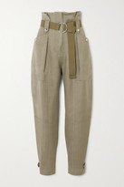 IRO Mohon Belted Cotton-canvas Tapered Pants