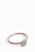 Monica Vinader Nura Small Diamond Pebble Stack Ring