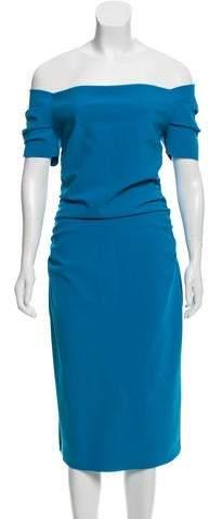 Chiara Boni Ruched Off-The-Shoulder Dress